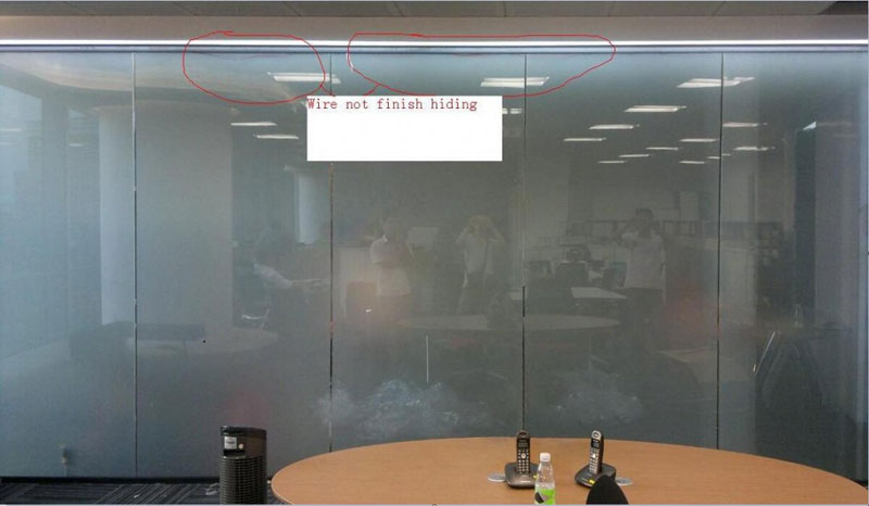 Smart glass wire connection in real project1